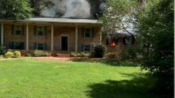 A home in the Cedar Creek subdivision was destroyed by fire Monday afternoon.
