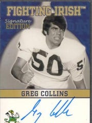 Greg Collins (Rice, '70) is pictured on his card as