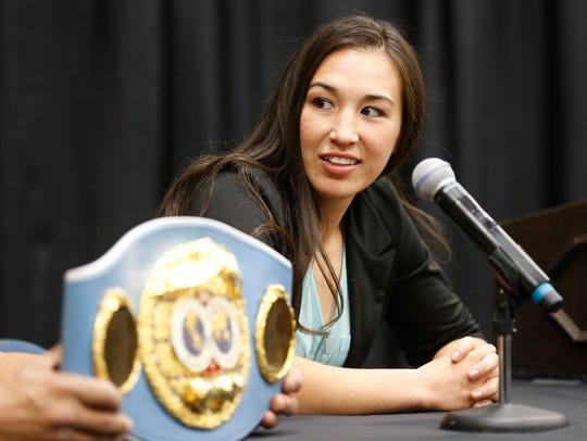 IBF World Featherweight Champion Jennifer Han (14-3-1)