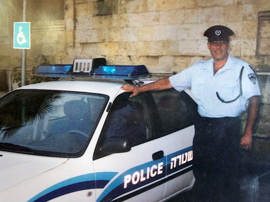 Larry Goldman, of York Township, when he served as a police officer in Israel for five years around 2002.