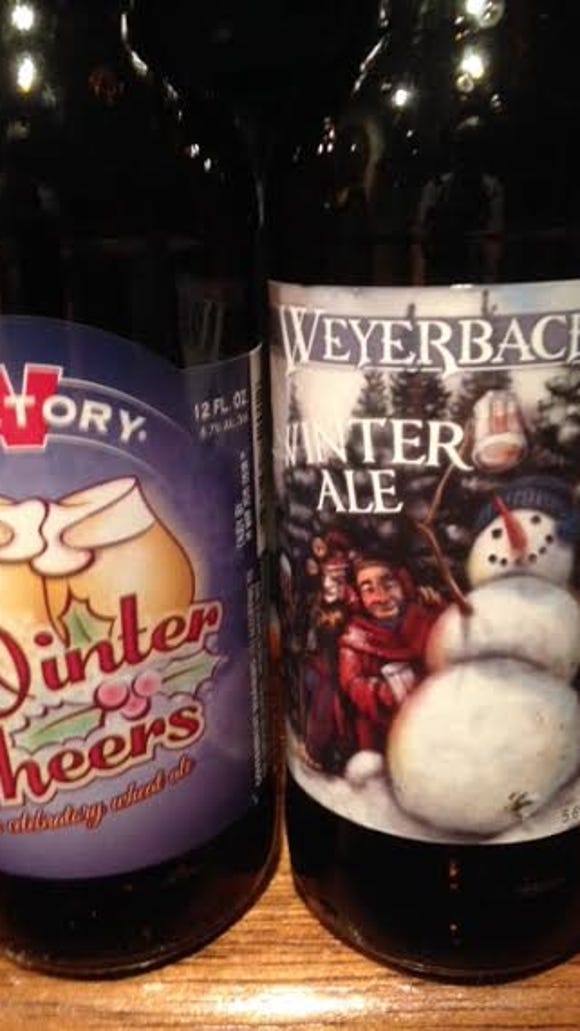 Victory Winter Cheers and Weyerbacher Winter Ale.