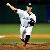 Matt Hockenberry got the last three outs in Monday's game against Greensboro for his 18th save of the season.