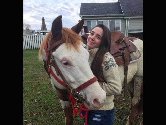 Foreign exchange student Sara Lopez Gomez enjoyed riding horses during her stay in Fairview.