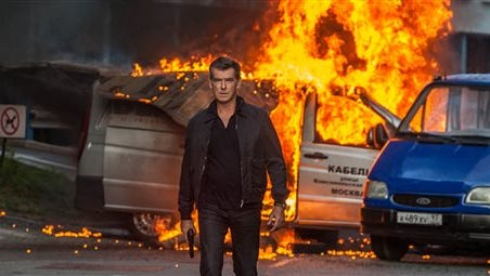 "This image released by Relativity Media shows Pierce Brosnan in a scene from the film, ""The November Man."""