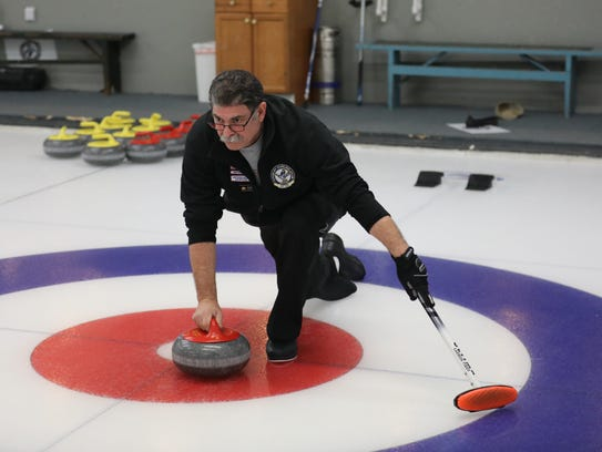 Joseph Sablow, a board member with the Ardsley Curling