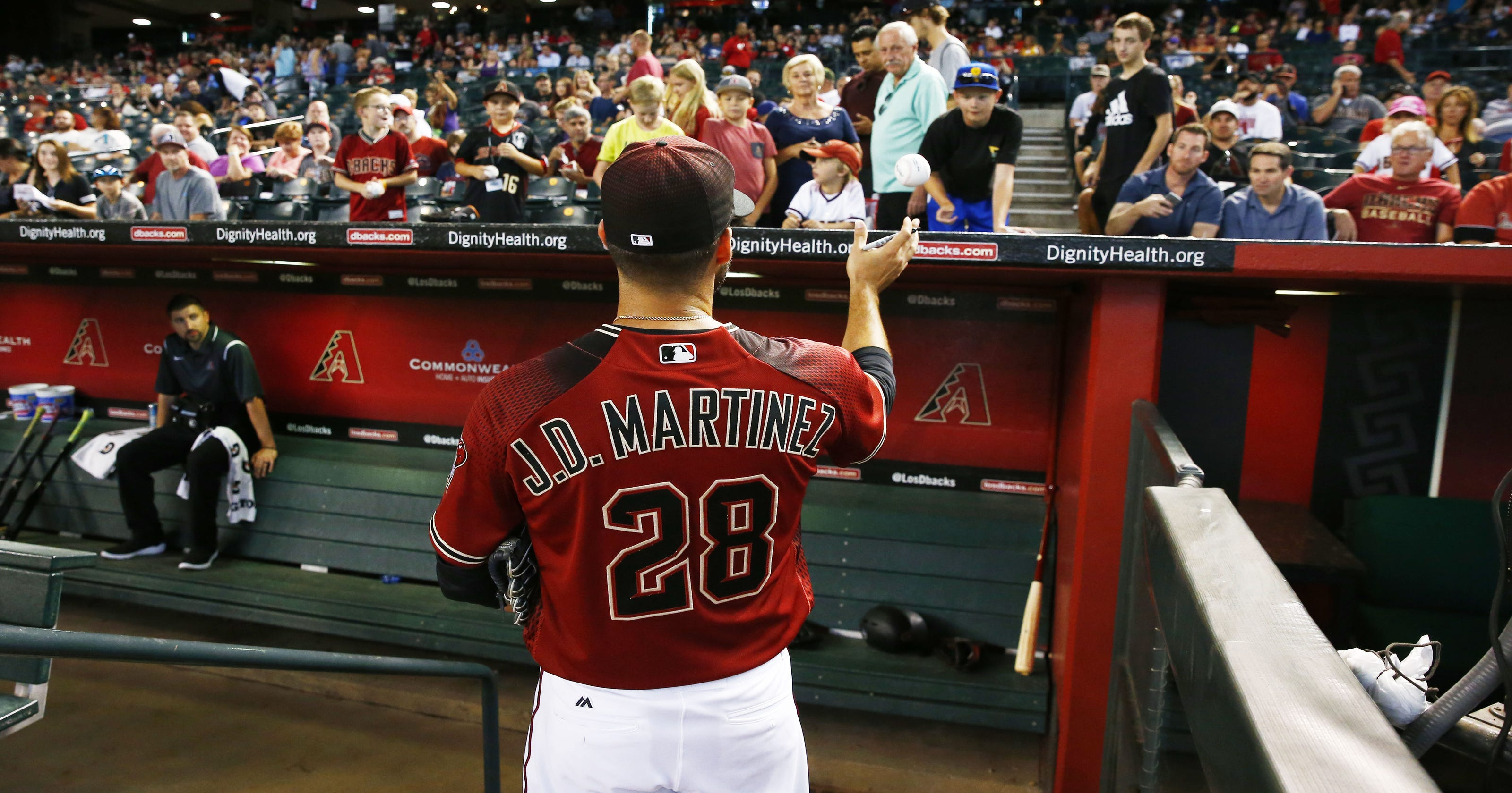 wholesale dealer cd794 8a7fa Arizona Diamondbacks' J.D. Martinez adjusting to life in the ...