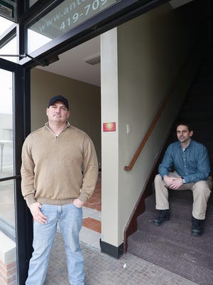Dan Rzeppa and David Rose in their space downtown that they are currently rehabbing.