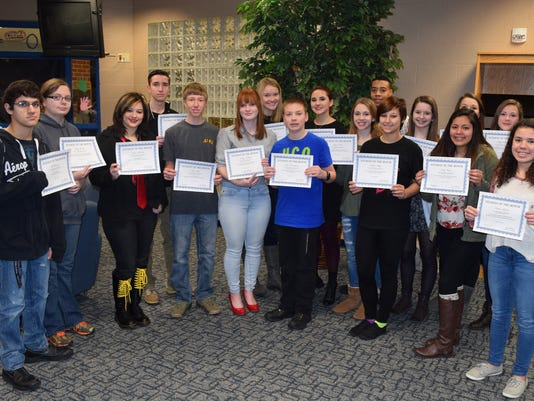 Harper Creek January Students of the Month