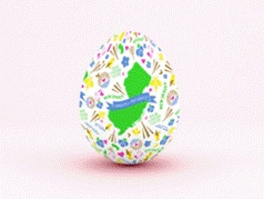 The Easter egg design created by two Linden High School