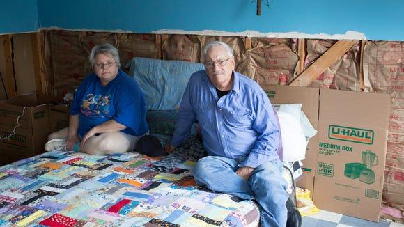 Dorothy and Ed Beavers were among dozens of flood victims