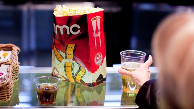 Popcorn and drinks at AMC, one of more than 4,000 movie theaters where MoviePass is accepted.