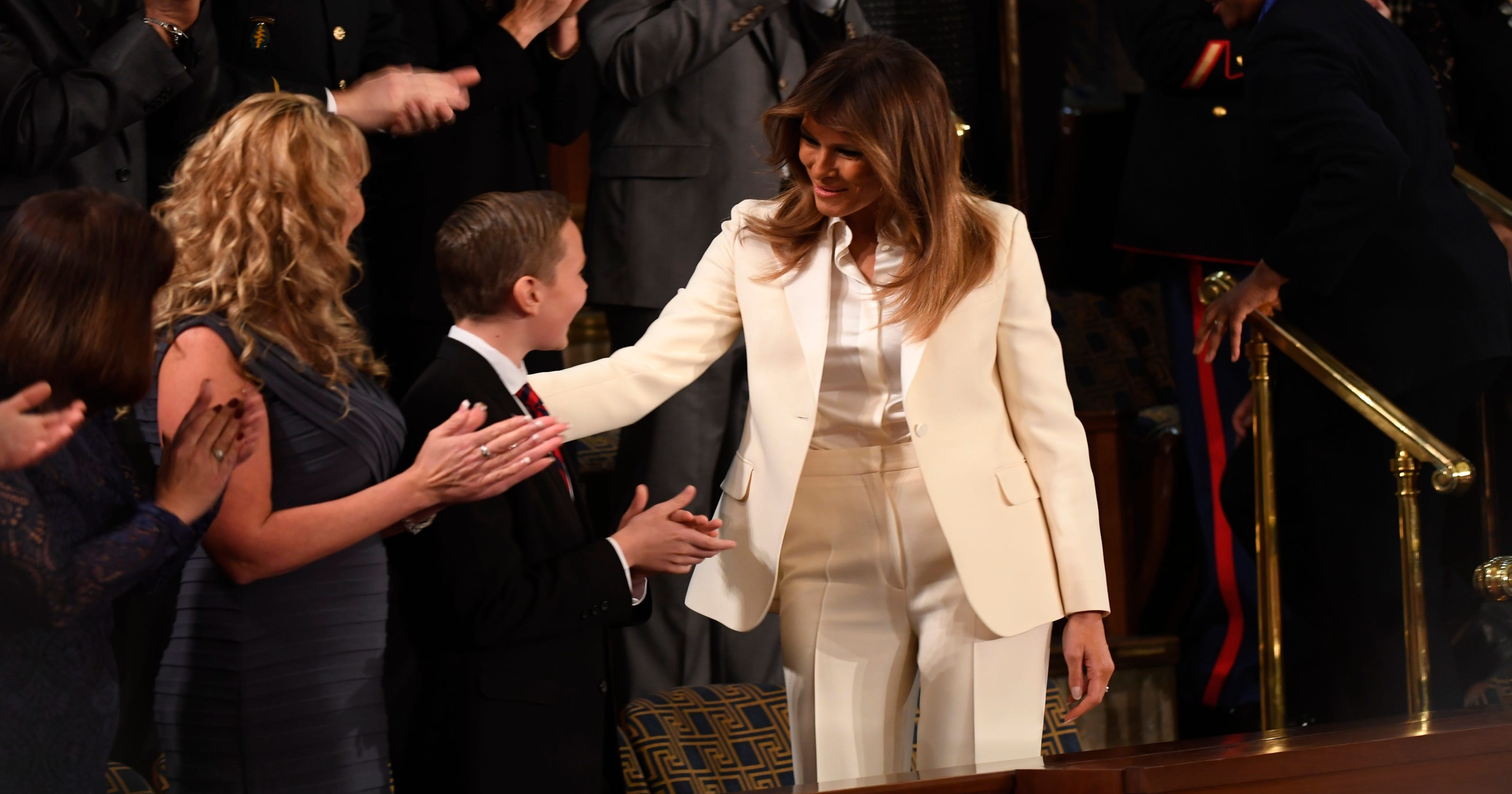 First lady Melania Trump goes to SOTU speech with guests 7a57a7ccb