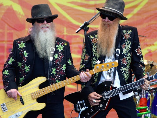 ZZ Top, featuring Dusty Hill, left, and Billy Gibbons, will headline the Palomino Stage at Stagecoach on Sunday.