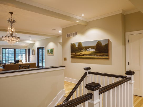 A painting by Ted Walsh shows the property the way