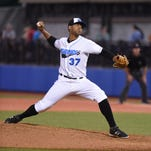 Hudson Valley Renegades' Luis Urena pitches during Wednesday's game versus the Brooklyn Cyclones at Dutchess Stadium in Fishkill.