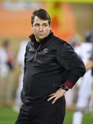 South Carolina head coach Will Muschamp needs to hire an offensive line coach who can improve a crew that underperformed this season.