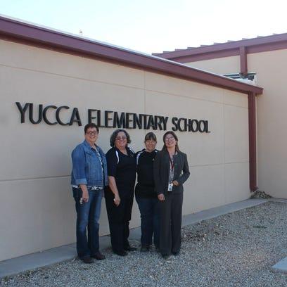 Former Yucca Elementary Principals Cathy Jackson, Adrianne