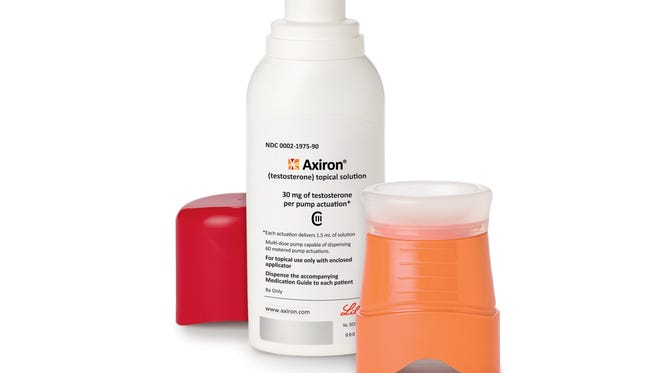 Axiron, an underarm gel that rolls on like deodorant, is one drug used by men who have symptoms of growing older associated with low testosterone, such as poor sex drive, weight gain and fatigue. It is one of a growing number of prescription gels, patches and injections aimed at boosting levels of the male hormone that begins to decline in men after about age 40.