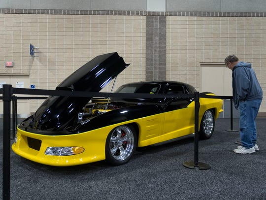 A custom Corvette Split Window Coupe based on the 1963 model was on display at last year's Knox News Auto Show.