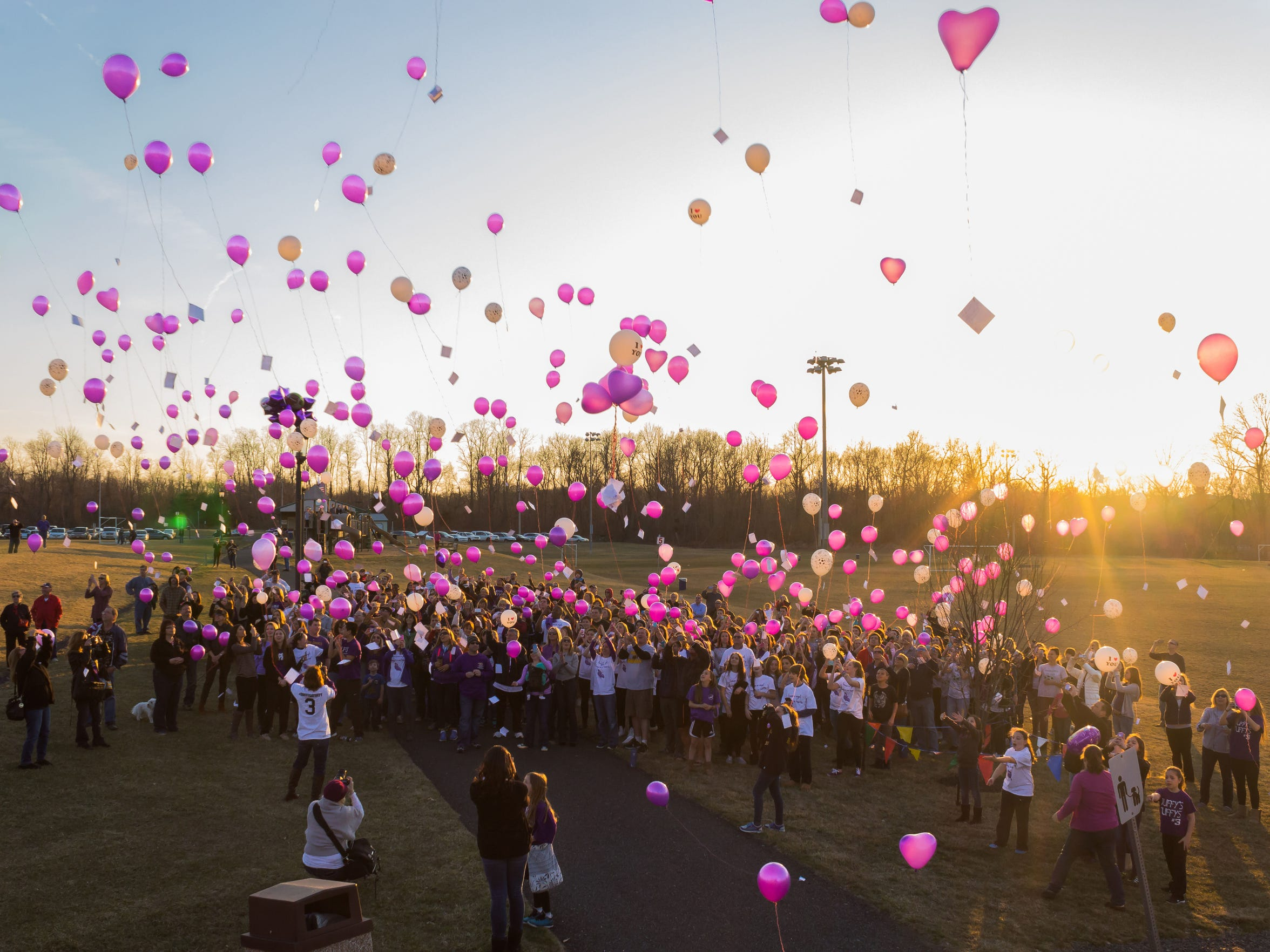 A balloon release took place March 22 to celebrate
