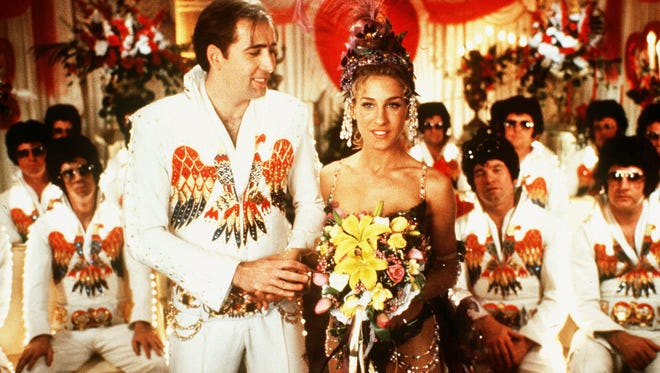 Nicolas Cage, left, and Sarah Jessica Parker in 'Honeymoon in Vegas.'