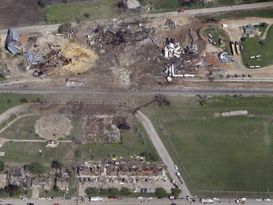 AP PLANT EXPLOSION FEMA A USA TX