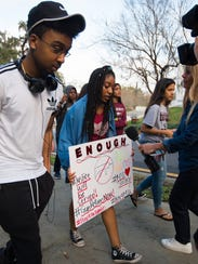 Students from Marjory Stoneman Douglas High School