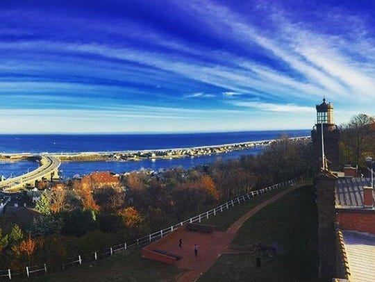 The view from the Twin Lights Lighthouse in Highlands.