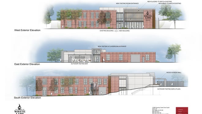 Proposed exterior elevations for the White Labs site.