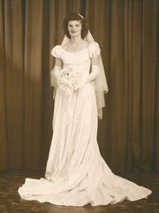 Jean Wydysh Chappell on her wedding day, Aug. 2, 1947.