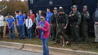 League Academy students donate technology they developed to improve the Greenville County Sheriff's Office use of K9 cameras.