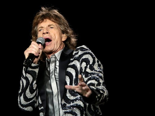 Mick Jagger of The Rolling Stones performs for the