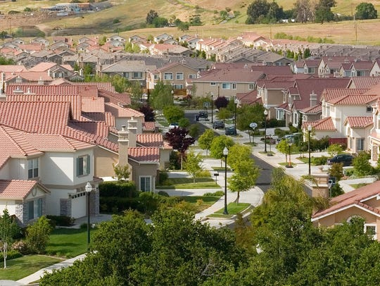 A photo of a new housing development in San Jose, CA,