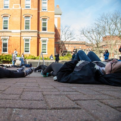 Iowa City students hold 'die-in' as part of national walkout
