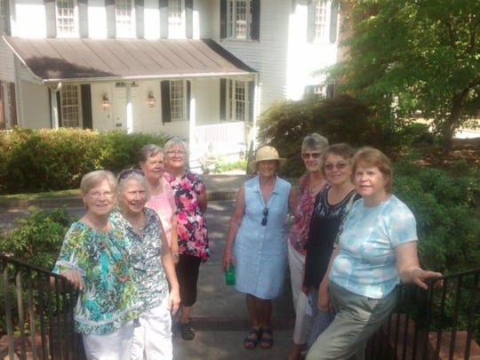 Nine members toured the Kigore-Lewis House and Gardens July 14.