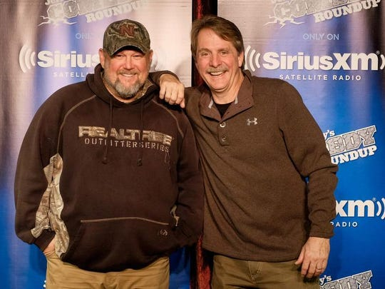 Larry the Cable Guy, left, and Jeff Foxworthy perform at Bon Secours Wellness Arena April 24.