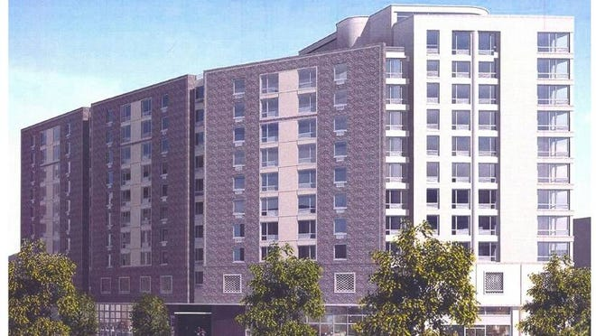 An artist's rendering of the planned mixed-use development at 203 Gramatan Ave. in Mount Vernon.