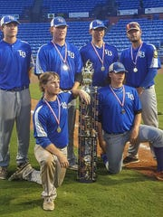 Tallahassee Post 13 won an American Legion state title for the first time in 44 years. Back row, L-R: James Crowder, Chance Carter, Thomas Nicoll, Noah Davis; Bottom row, L-R: Ryan Day, Nick Collins