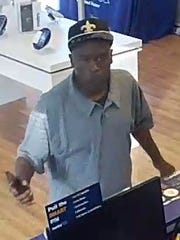 Smyrna Police are looking for this man in connection with the May 26 robbery of the Metro PCS store on South Lowry Street.