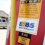 E85 is a blend of 15% gasoline and 85% ethanol produced from corn or grain.