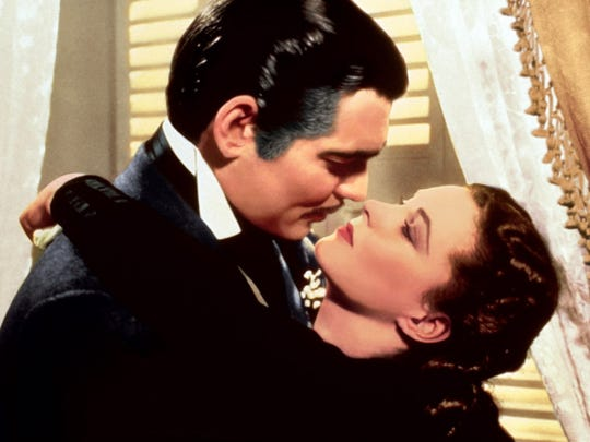 Clark Gable and Vivien Leigh in a scene from the 1939