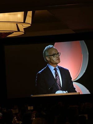 Scott Pelley, CBS News anchor and managing editor,  spoke about journalism's crucial role in a democracy to more than 1,000 people who attended the Cronkite award luncheon in downtown Phoenix.