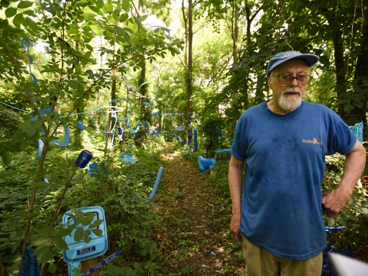 Bath Township outdoor art, The Blue Loop, gets stay of execution