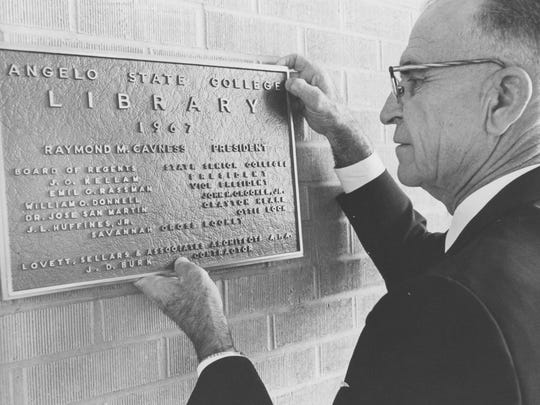 President R.M. Cavness transformed San Angelo College into a four-year university in the mid-1960s.
