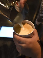 A latte is served at the Proving Grounds.