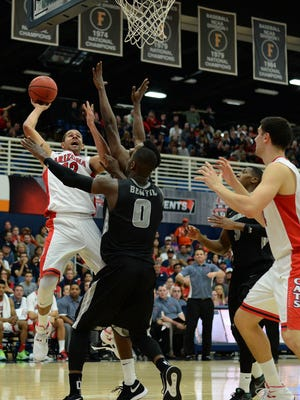 Nov 27, 2015: Arizona Wildcats forward Ryan Anderson (12) shoots the ball as Providence Friars forward Ben Bentil (0) defends during the second half at Titan Gym.