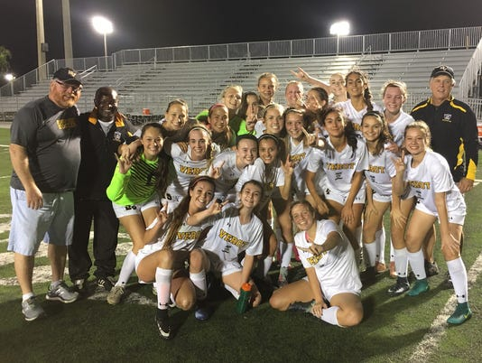 Bishop Verot girls' soccer reaches state final four