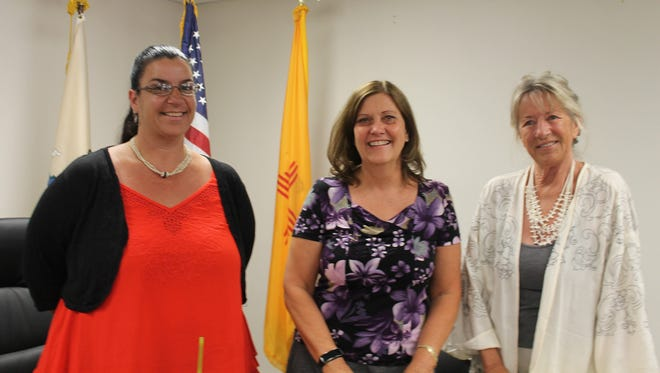 The Board of Otero County Commissioners from left to right, Commissioners Lori Bies, Susan Flores and Janet White. The first meeting of the year will be Thursday, Jan. 12.