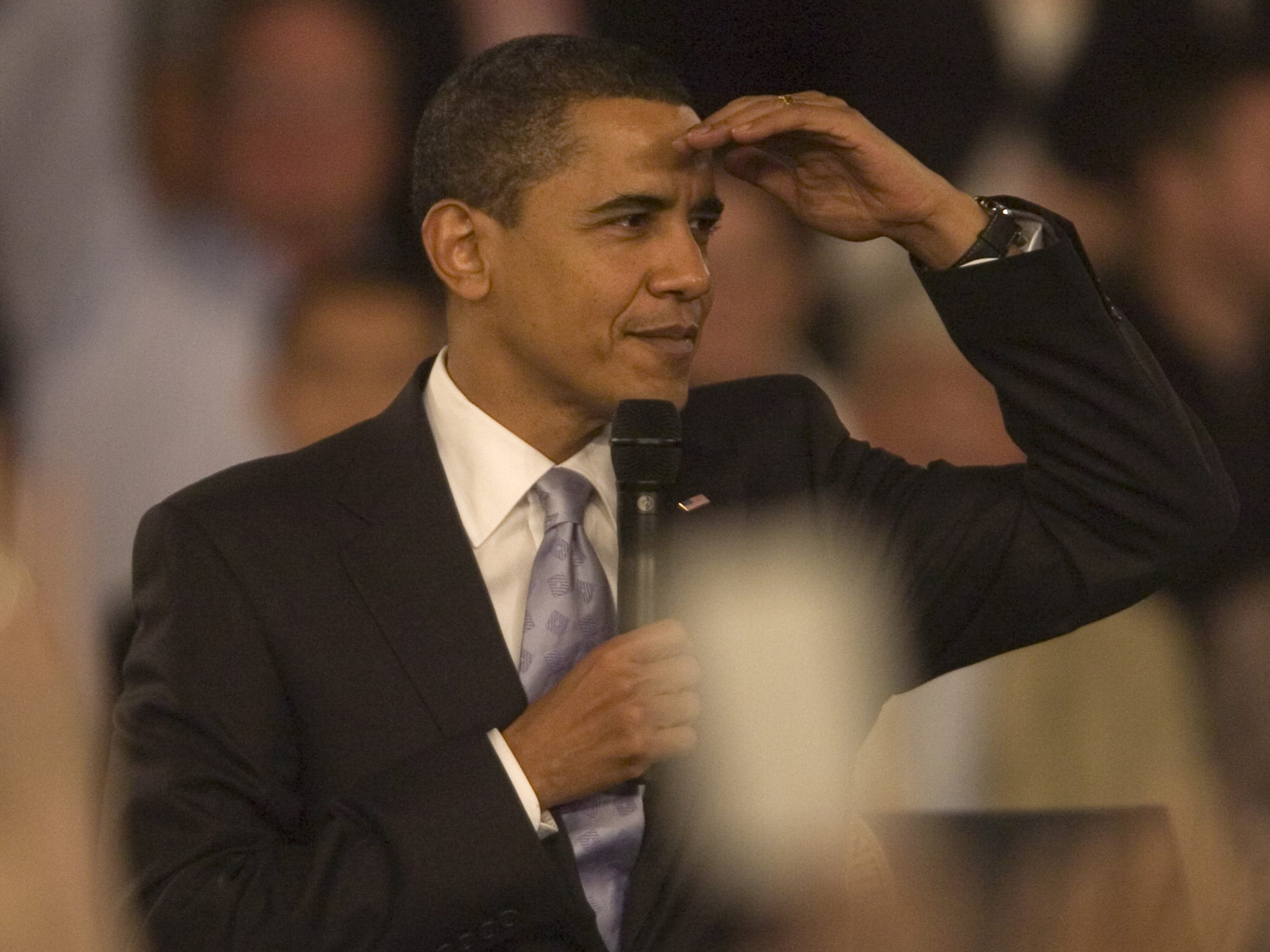 President Obama at Harborside Event Center during his Fort Myers visit on Feb. 10, 2009.