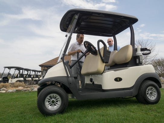 The new golf carts at Fox Creek now feature GPS guidance.